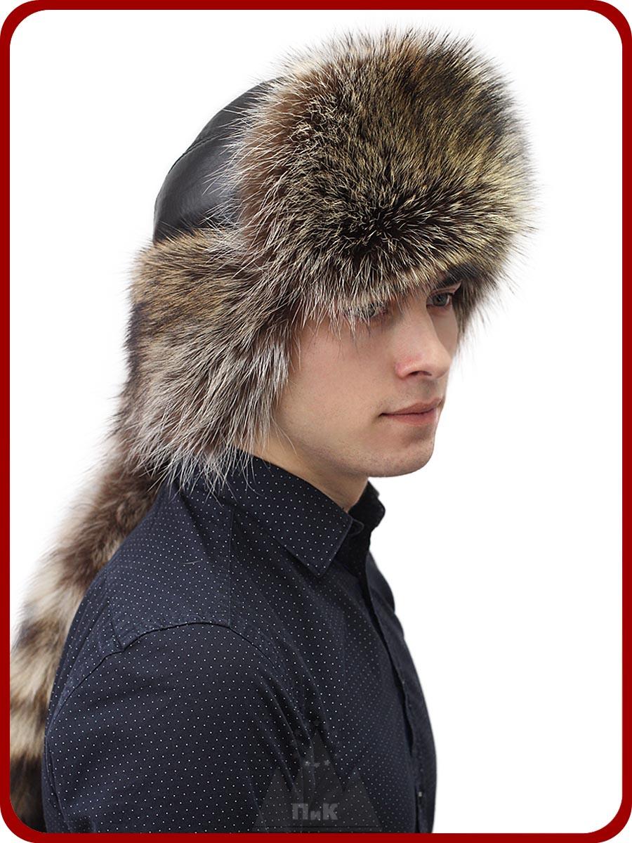 Малахай Порту - Мужские шапки - Из меха енота 4d3a0da25d755