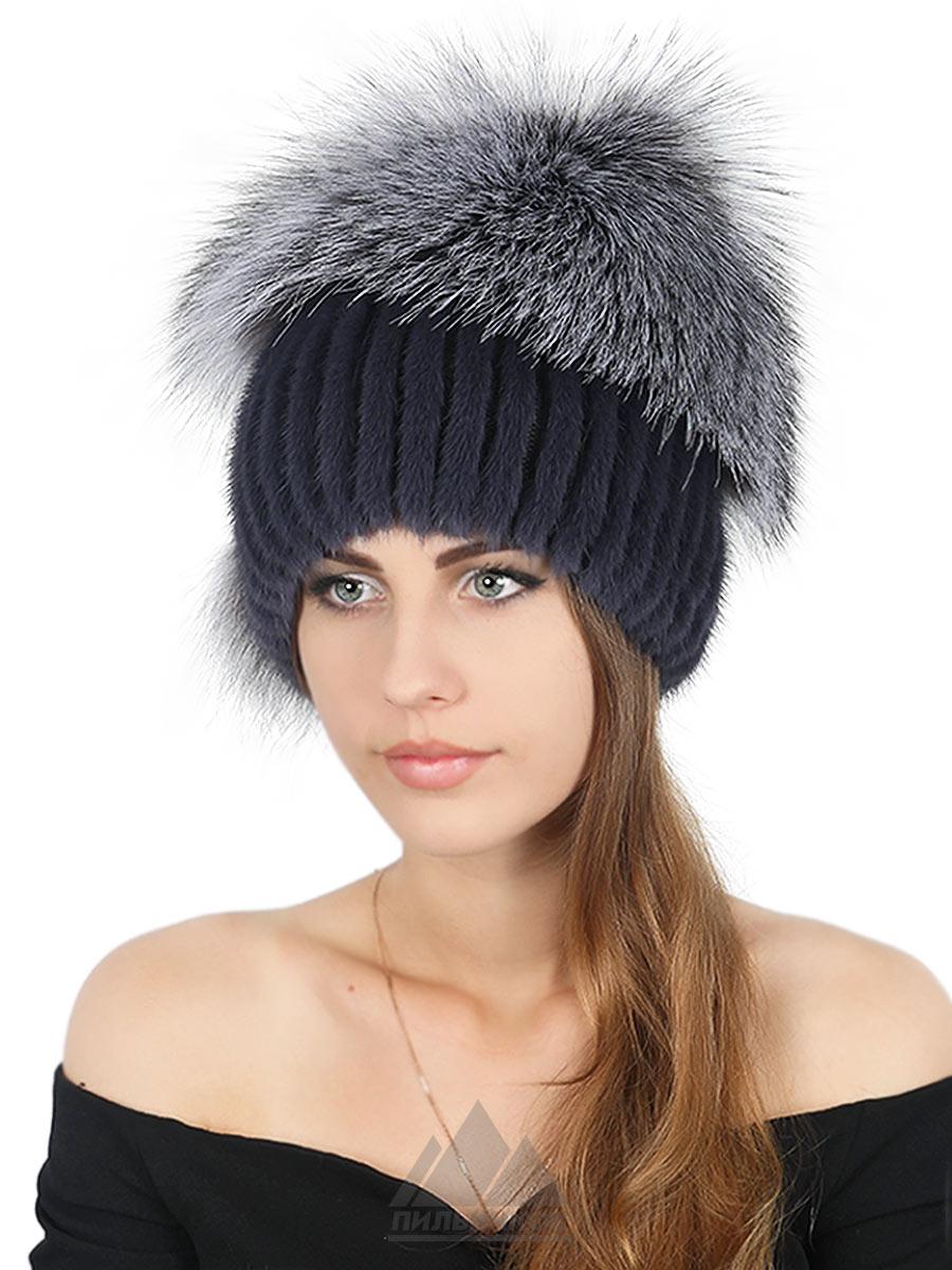 Шапка-снопик Дебора - Женские шапки - Из вязаной норки