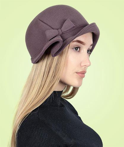 7b6a3dd0df45 Купить фетровые шляпы женские по сниженной цене в Интернет магазине