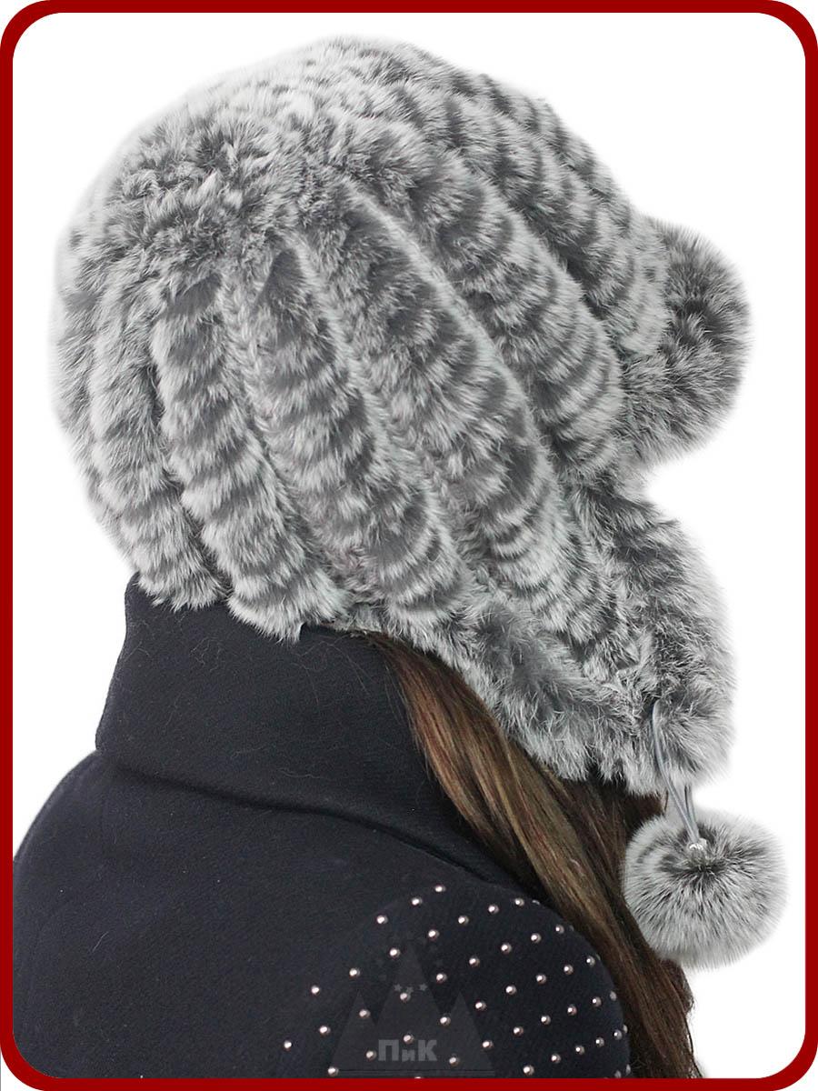 Вязание спицами мехом норки шапки мастер класс