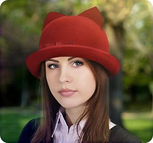 Модная шляпка с ушками - Кира