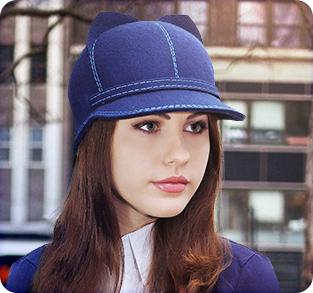 Фетровая кепка с ушками Кларисса