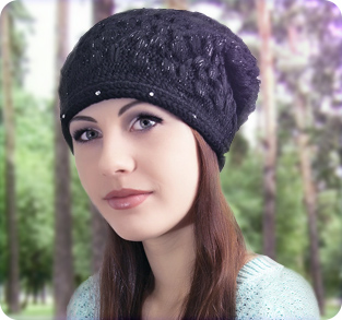 Модная трикотажная шапочка