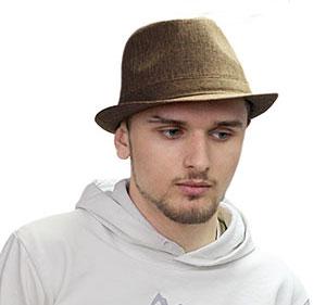 Мужские шляпы изо льна