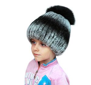 Детские меховые шапки