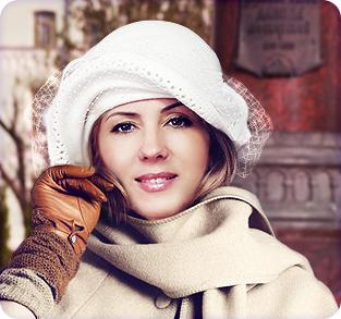 Велюровая шляпка с вуалью
