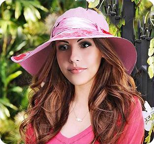 Шляпа с широкими полями изо льна