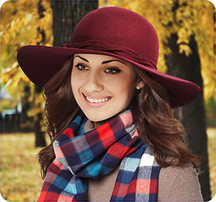 Шляпа с широкими полями из шерстяного фетра