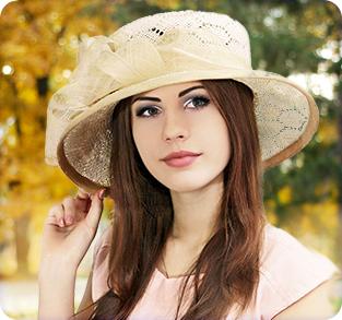 Шляпка из бамбуковой соломки